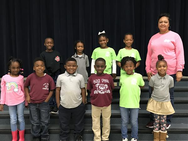First Grade Outstanding Students