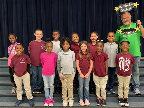Second Grade Outstanding Students